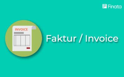FAKTUR : Pengertian dan Fungsi dan Jenisnya